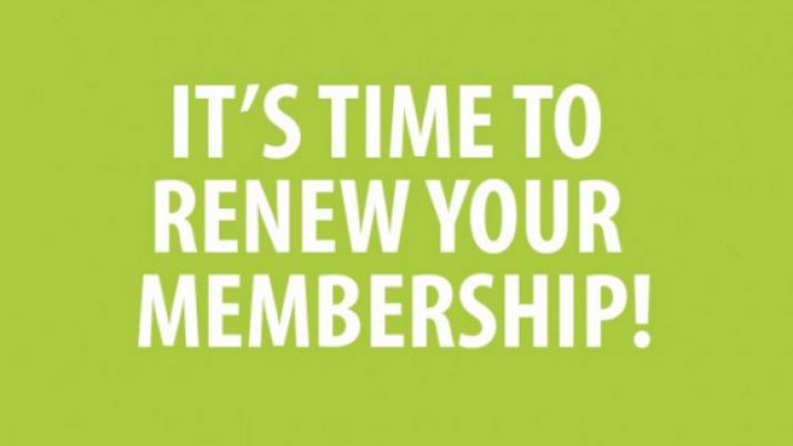 Membership Renewals for 2019-2020